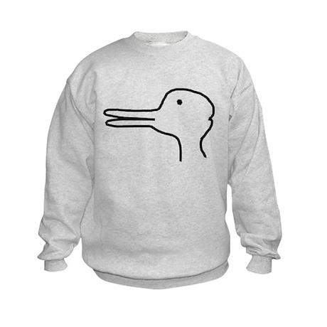 Rabbit Duck Optical Ilusion Kids Sweatshirt