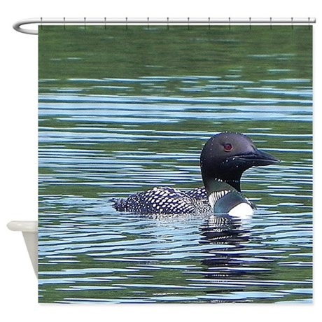 Wet Loon Shower Curtain