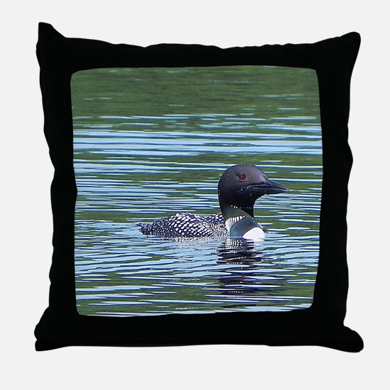 Wet Loon Throw Pillow