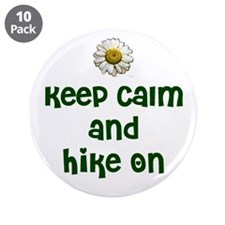 """Keep Calm and Hike On 3.5"""" Button (10 pack)"""