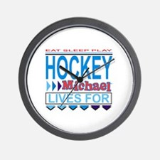 Michael Lives for Hockey Wall Clock