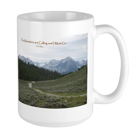 The Mountains are Calling Large Mug