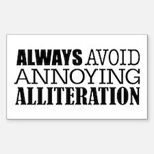 Annoying Alliteration Sticker (Rectangle)