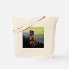 Raven Totem Pole Tote Bag
