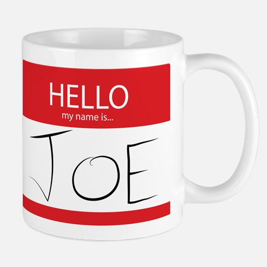 Cup of Joe: Name Tag Mug