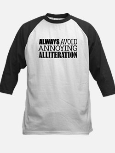 Annoying Alliteration Baseball Jersey