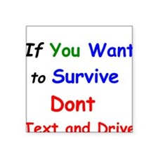If You want to Survive Dont Text and Drive Sticker