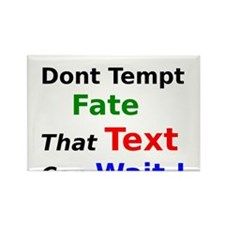 Dont Tempt Fate that Text can Wait Rectangle Magne