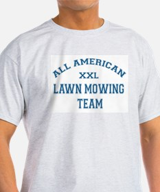 AA Lawn Mowing Team Ash Grey T-Shirt