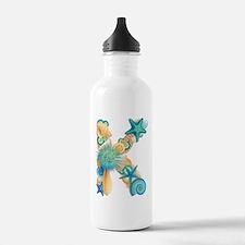 Beach Theme Initial K Water Bottle