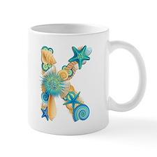 Beach Theme Initial K Mug