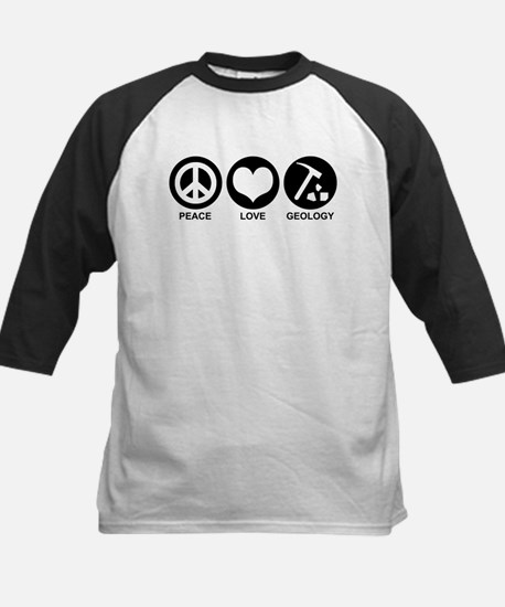 Peace Love Geology Kids Baseball Jersey