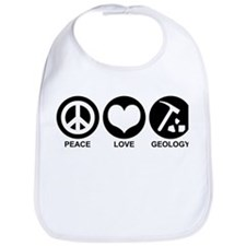 Peace Love Geology Bib