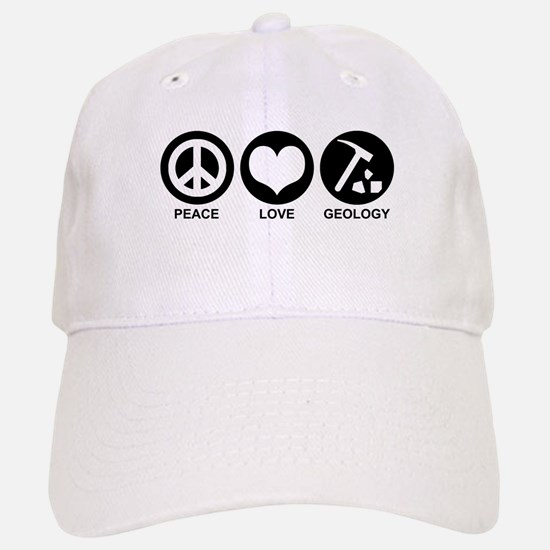 Peace Love Geology Baseball Baseball Cap