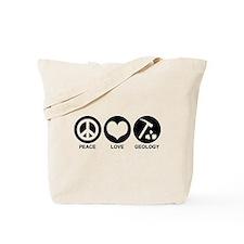 Peace Love Geology Tote Bag