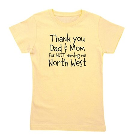 Thank you Dad Mom Girl's Tee