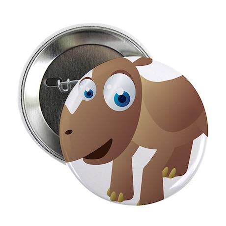 """Cartoon Rhino 2.25"""" Button (100 pack)"""