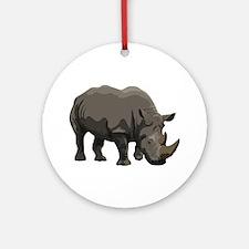 Classic Rhino Ornament (Round)