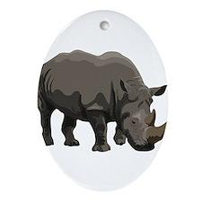 Classic Rhino Ornament (Oval)