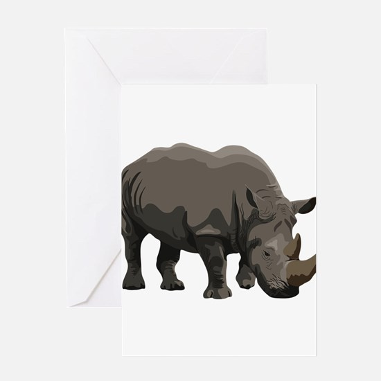 Classic Rhino Greeting Card