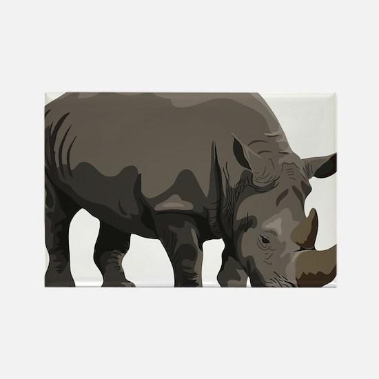 Classic Rhino Rectangle Magnet