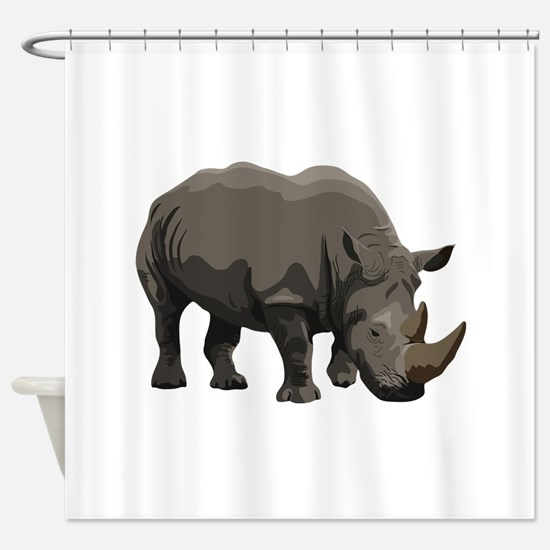 Classic Rhino Shower Curtain