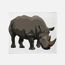 Classic Rhino Throw Blanket