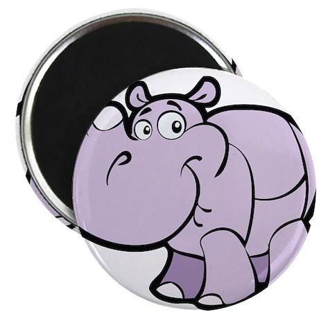Purple Cartoon Rhino Magnet