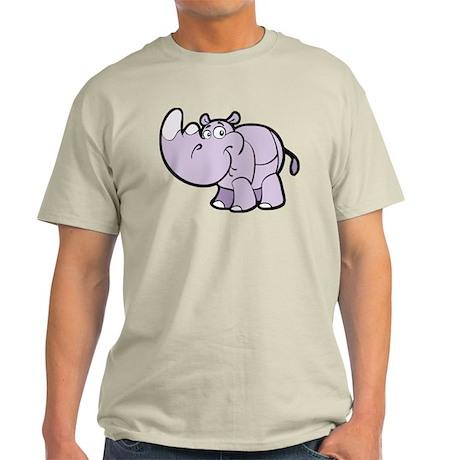 Purple Cartoon Rhino T-Shirt