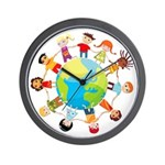 CHILDREN'S SERIES: Children for Peace Wall Clock