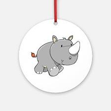 Baby Rhino Ornament (Round)