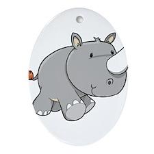 Baby Rhino Ornament (Oval)