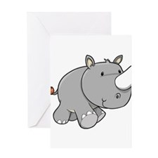 Baby Rhino Greeting Card