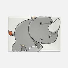 Baby Rhino Rectangle Magnet