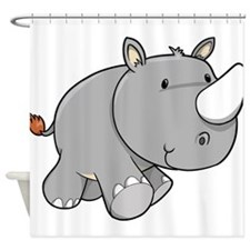 Baby Rhino Shower Curtain