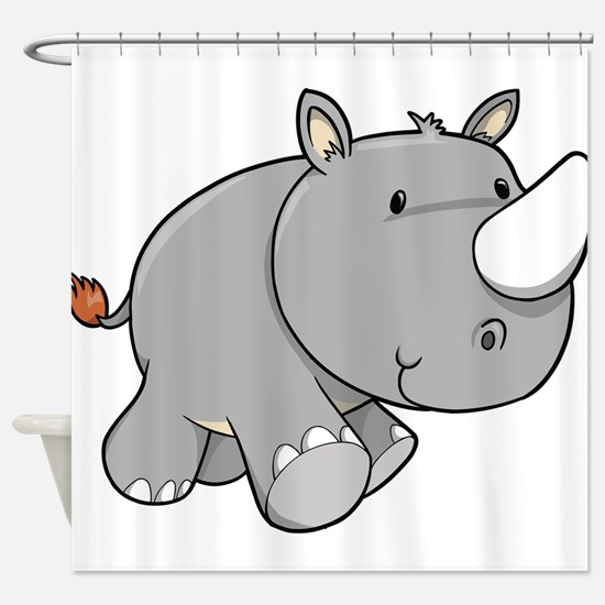 Baby Rhino Shower Curtain