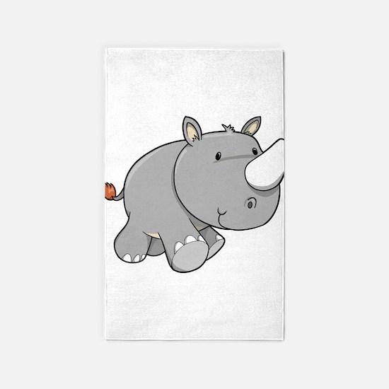 Baby Rhino 3'x5' Area Rug