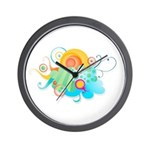 CHILDREN'S SERIES: Sun Peaking Out Wall Clock