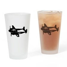 P-38 Lightning Drinking Glass