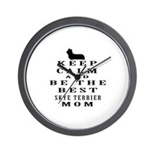 Keep Calm Skye Terrier Designs Wall Clock