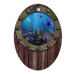 Underwater Love Porthole Ornament (Oval)