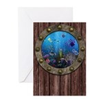 Underwater Love Porthole Greeting Cards (Pk of 10)