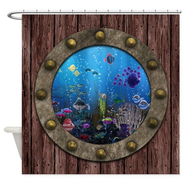 Aquarium Shower Curtains | Aquarium Fabric Shower Curtain Liner