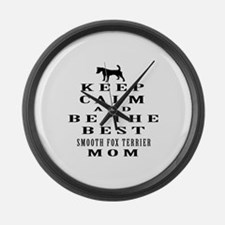 Keep Calm Smooth Fox Terrier Designs Large Wall Cl