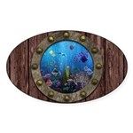Underwater Love Porthole Sticker (Oval)