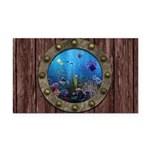 Underwater Love Porthole Rectangle Car Magnet