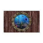 Underwater Love Porthole Car Magnet 20 x 12