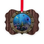 Underwater Love Porthole Picture Ornament