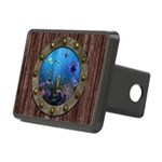 Underwater Love Porthole Rectangular Hitch Cover
