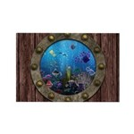 Underwater Love Porthole Rectangle Magnet (10 pack